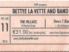 Bettye LaVette Band @ The Village 2010, Bettye La Vette Ticket