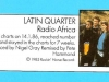 Latin Quarter, Radio Africa