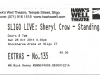Sheryl Crow Ticket, Sligo Live