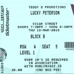 Lucky Peterson Vicar St Ticket
